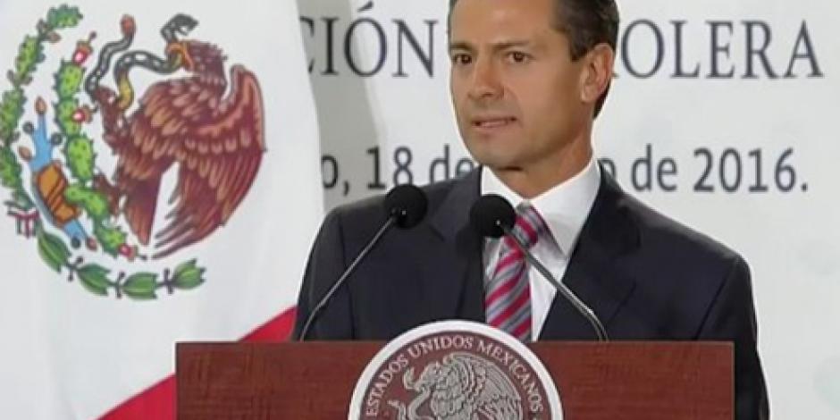 Demostrará Pemex su capacidad como referente mundial, afirma EPN