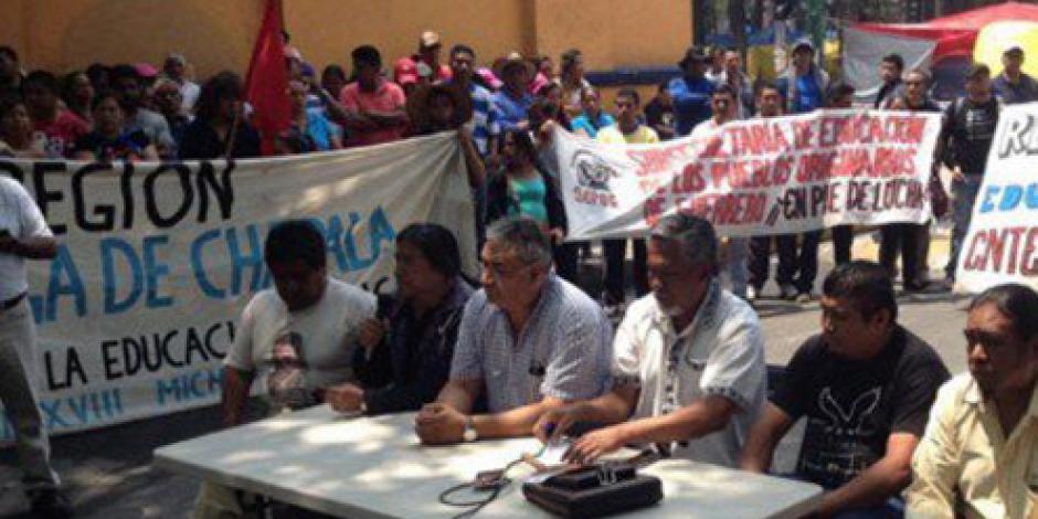 CNTE exige garantias a la CNDH para manifestarse en CDMX