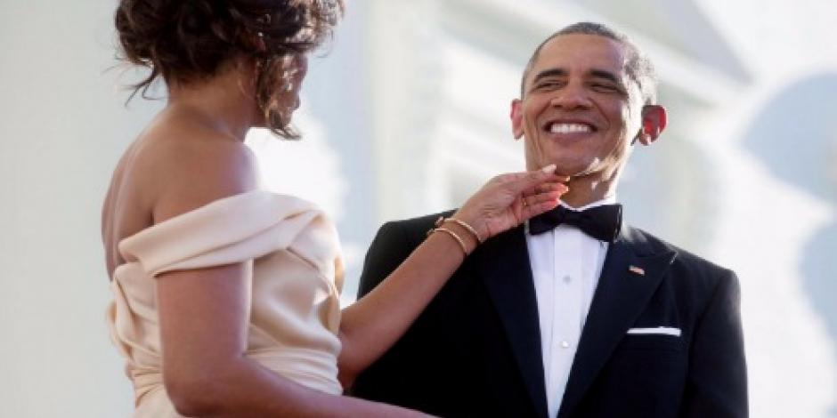 Michelle felicita a Obama con mensaje de amor