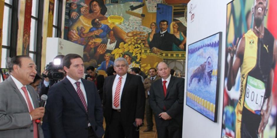 Inauguran exposición Eventos Mundiales 2016 en la Lotería Nacional