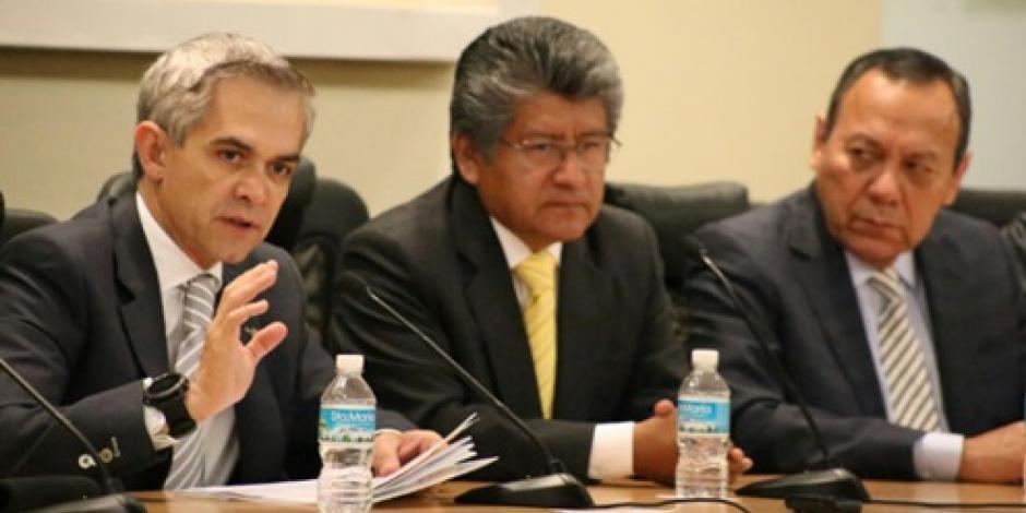 Mancera pide congruencia en presupuesto de la CDMX