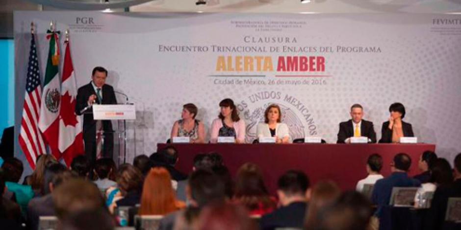 Unidad internacional, clave para fortalecer Alerta Amber, destaca Osorio