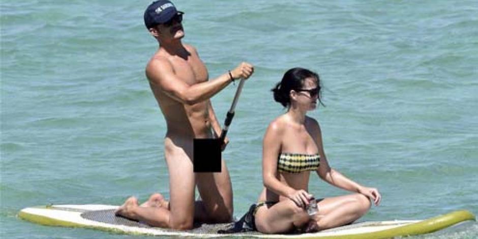 Orlando Bloom vacaciona desnudo junto a Katy Perry