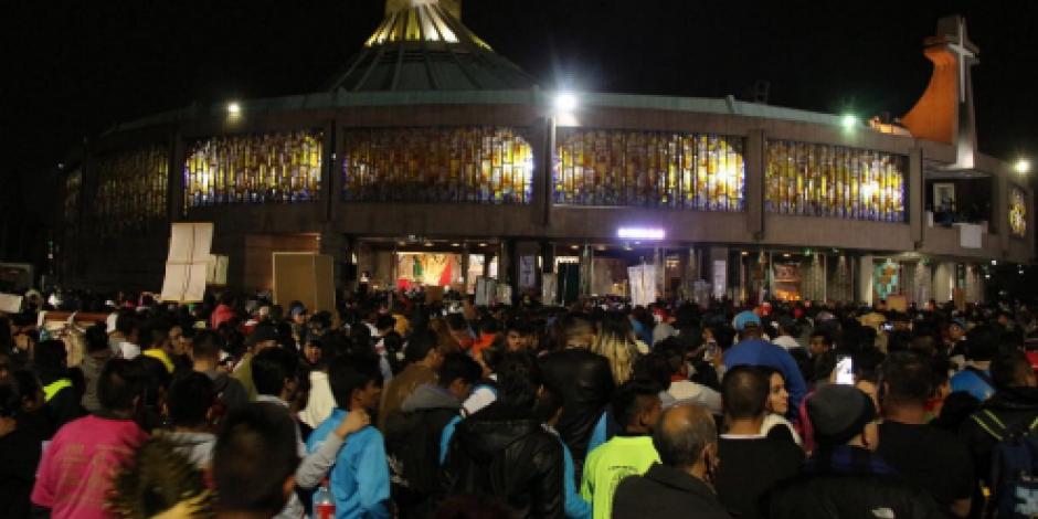 Peregrinos rompen récord de asistencia a la Basílica de Guadalupe