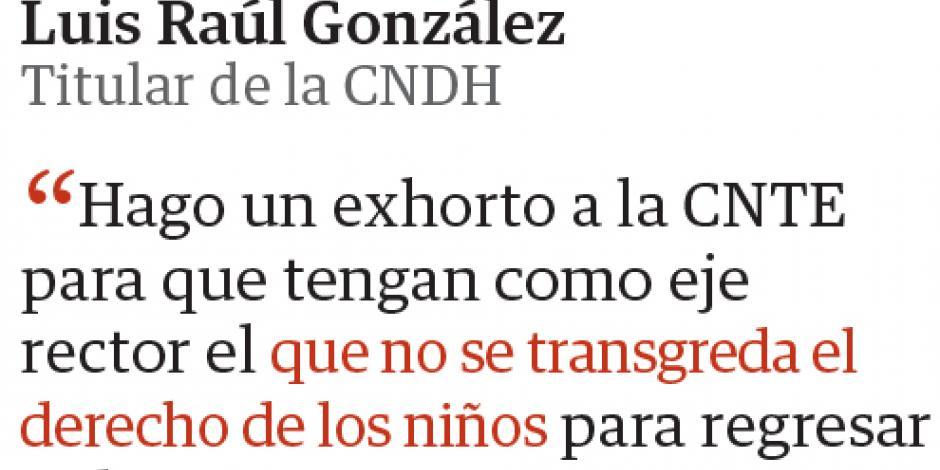 UNAM y CIDH exigen a CNTE iniciar curso