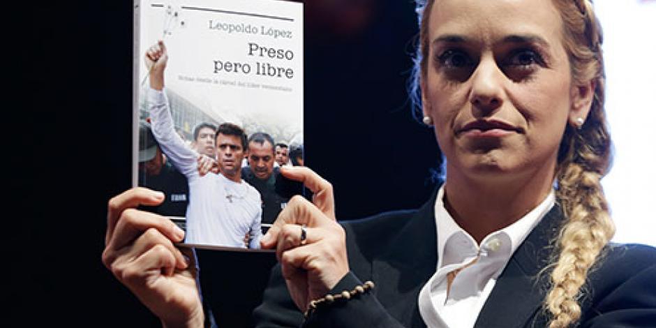 Desde Bogotá, Tintori presenta libro de Leopoldo López
