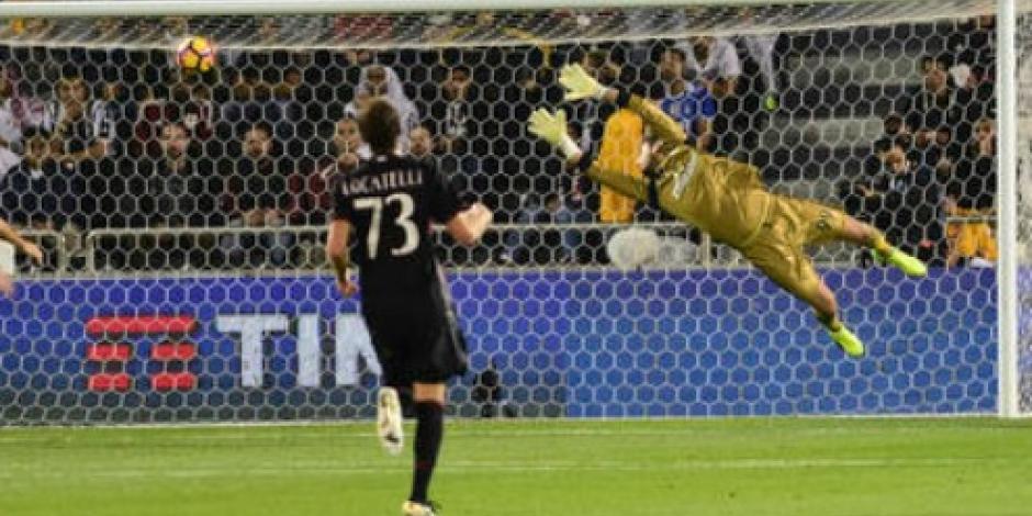 Milán vence 4-3 a Juventus en penales y se corona en la Supercopa