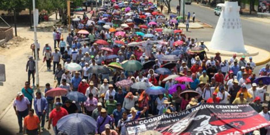 Más de 20 mil docentes de Chiapas harán una caravana a la CDMX