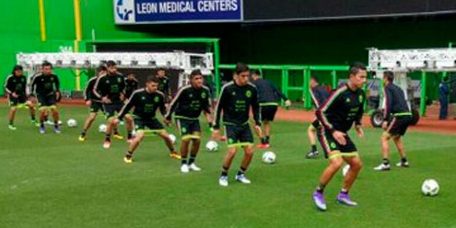Selección mexicana entrena para su primer juego del año