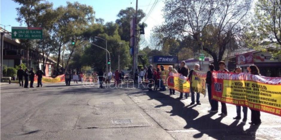 Vecinos se manifestaron cerca de 5 horas en avenida Centenario