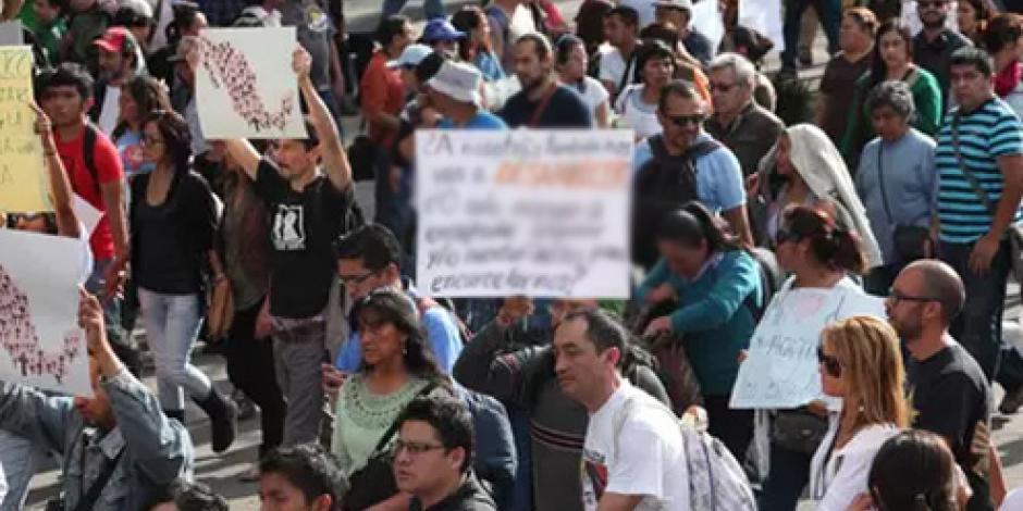 Restablecen circulación en Luis Cabrera tras paso de manifestantes