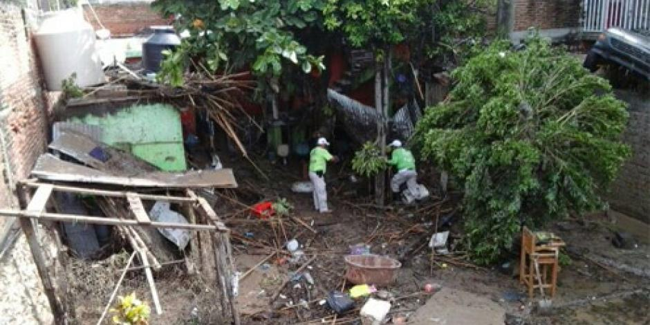 Reportan 2 muertos por lluvias en Chiapas
