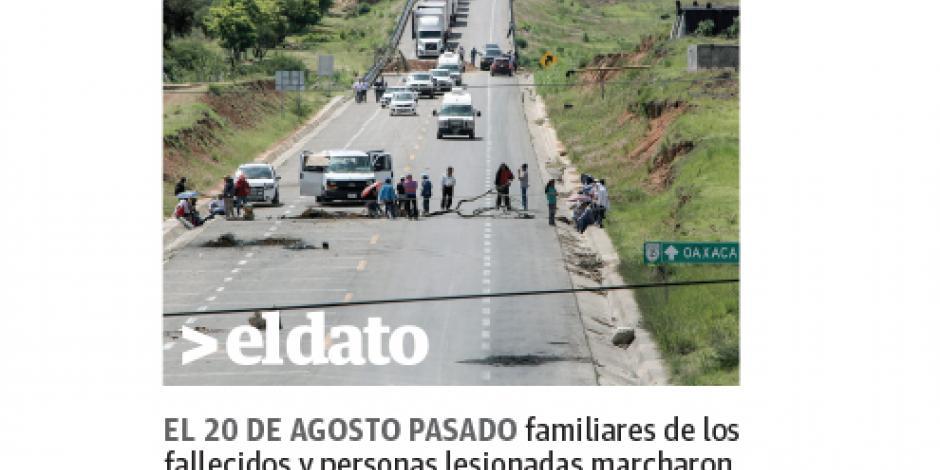 Cobran víctimas de Nochixtlán 4.5 mdp