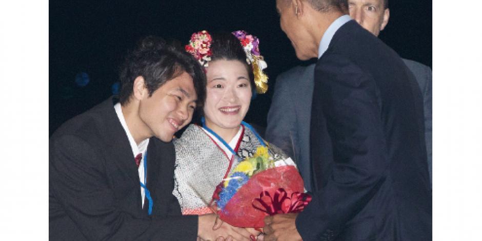 Obama llega a Japón para cumbre G-7