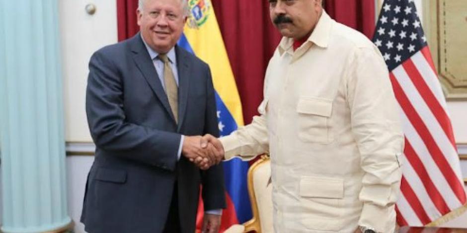 Se reúne Maduro con representante de EU para diálogo con la oposición