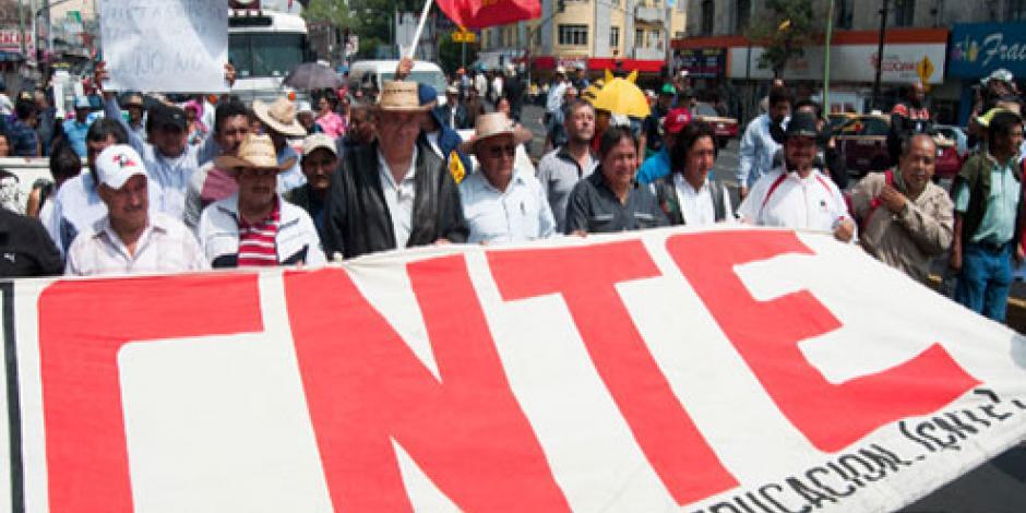 CNTE exige mesa de diálogo con funcionarios de la Segob