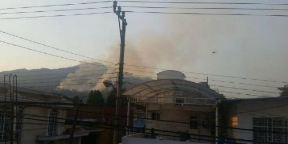 Reportan un nuevo incendio en Cerro de la Cruz, Michoacán