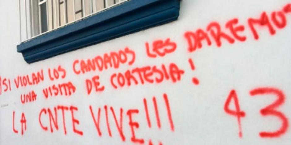 CNTE se deslinda de mensajes amenazantes en escuelas de Chiapas