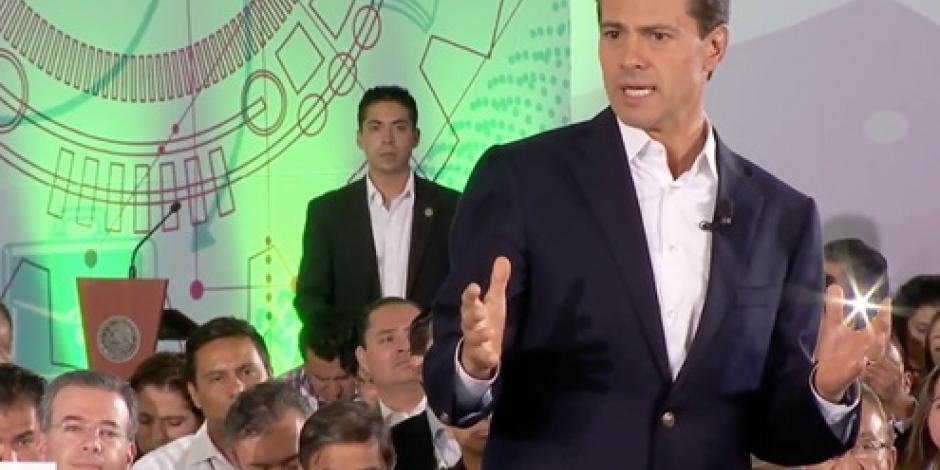 EPN destaca apoyo a 2 millones 300 mil emprendedores