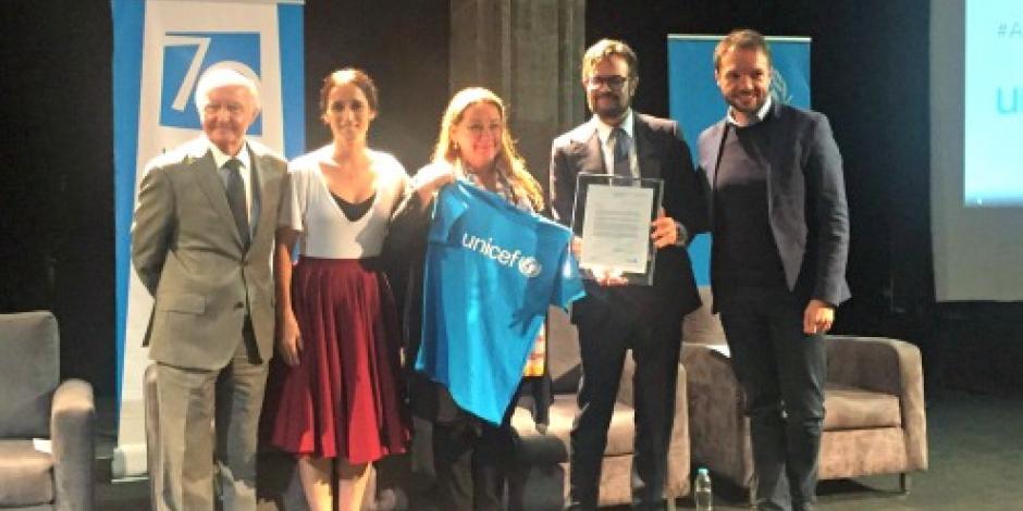 Aleks Syntek es nombrado Embajador de Buena Voluntad de Unicef