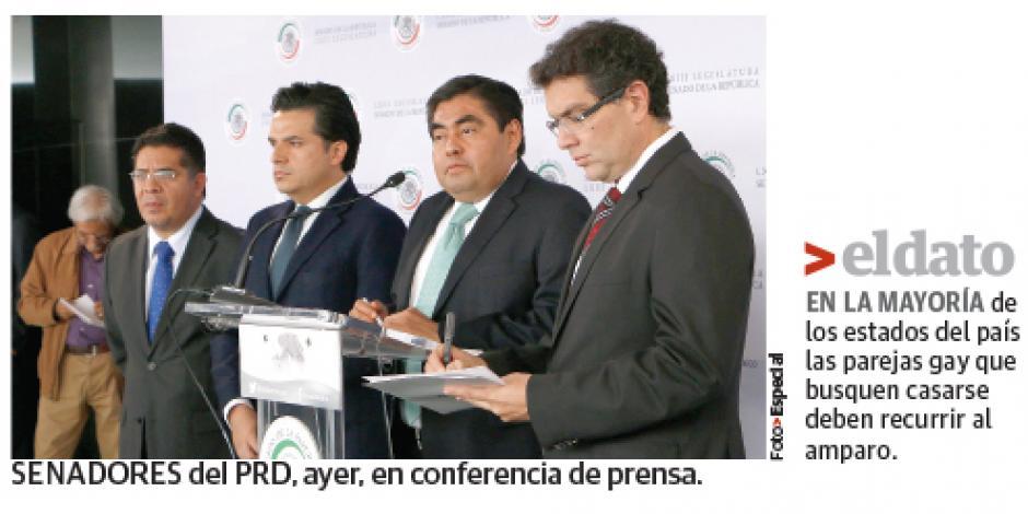 PRD va, con iniciativa de EPN, por bodas gay