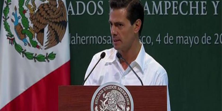 Anuncia EPN reactivación económica para Tabasco y Campeche