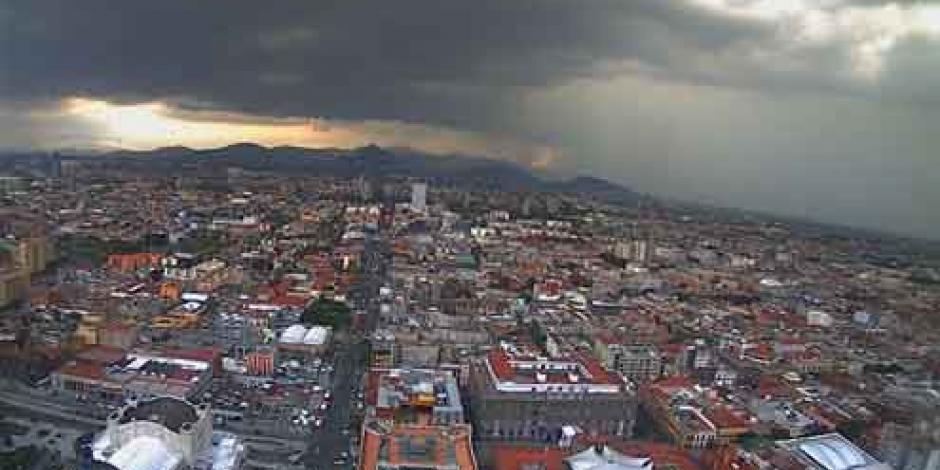 Reportan lluvia en 11 delegaciones de la CDMX