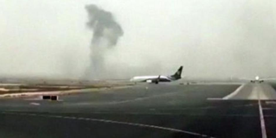 Video: Así fue el pánico en avión tras aterrizaje de emergencia en Dubái