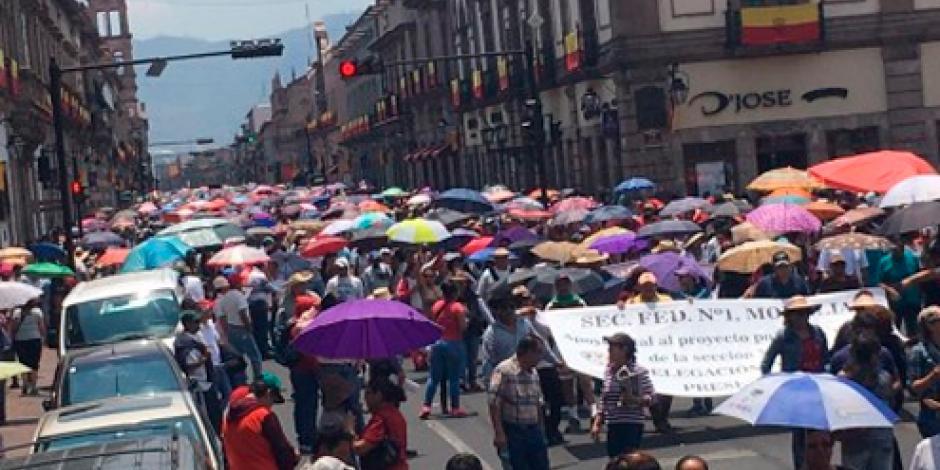 CNTE prepara marchas en Morelia