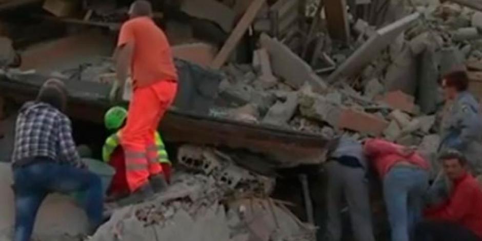 Terremoto en Italia deja 37 personas muertas