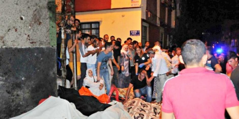 Atentado en boda deja 30 muertos y 94 heridos en Turquía