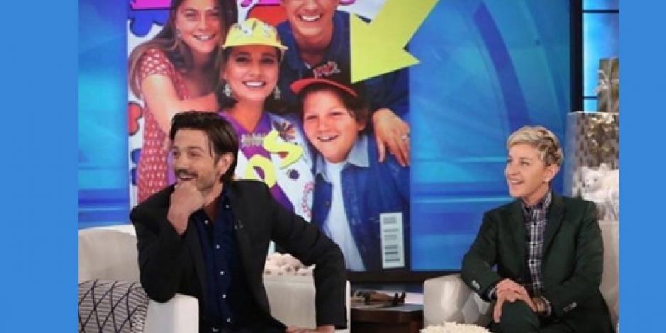 VIDEO: Ellen DeGeneres muestra foto incómoda a Diego Luna
