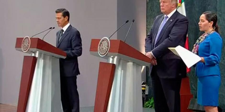 EPN afirma ante Trump que los mexicanos merecen respeto