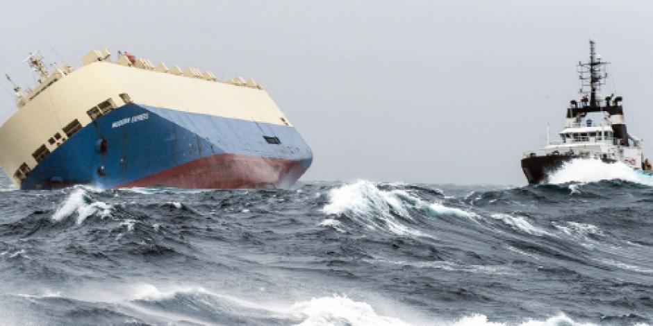 En riesgo de encallar en Francia, barco a la deriva