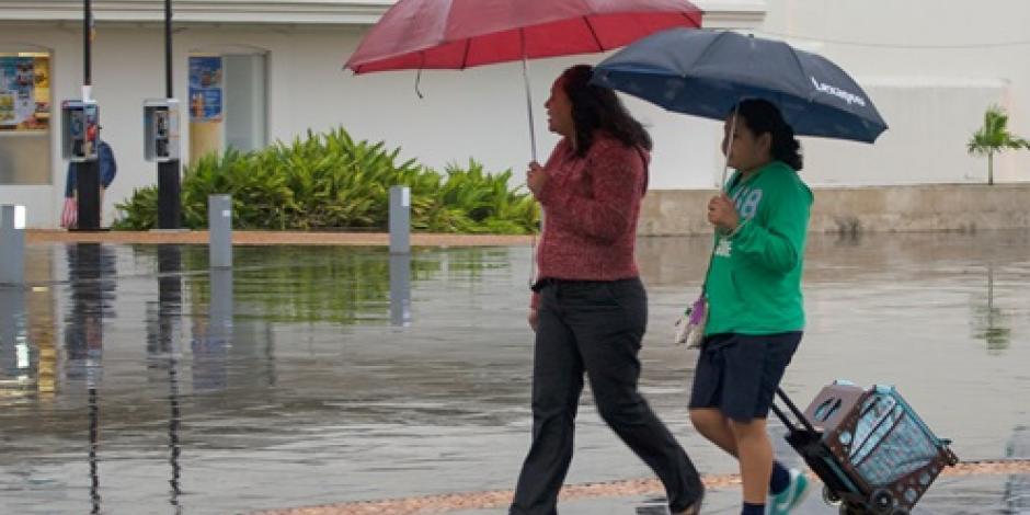 Prevén fuertes lluvias en 8 entidades