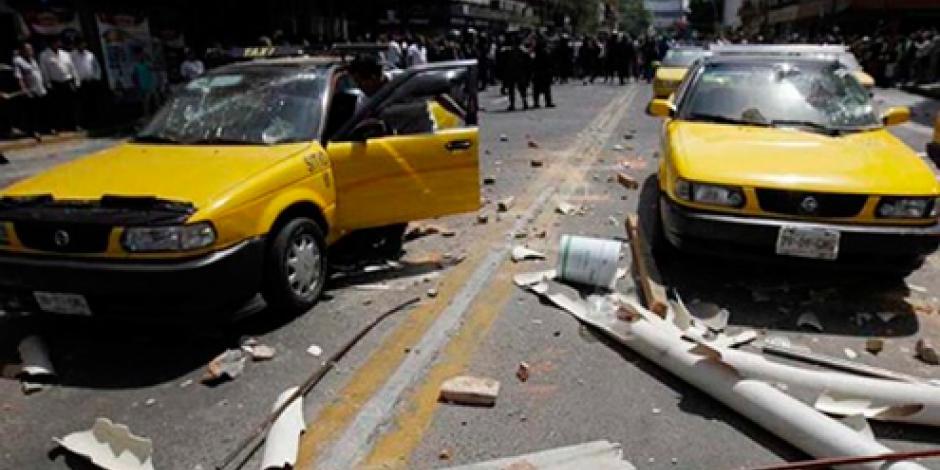 Liberan a 14 personas tras disturbios de taxistas en Guadalajara
