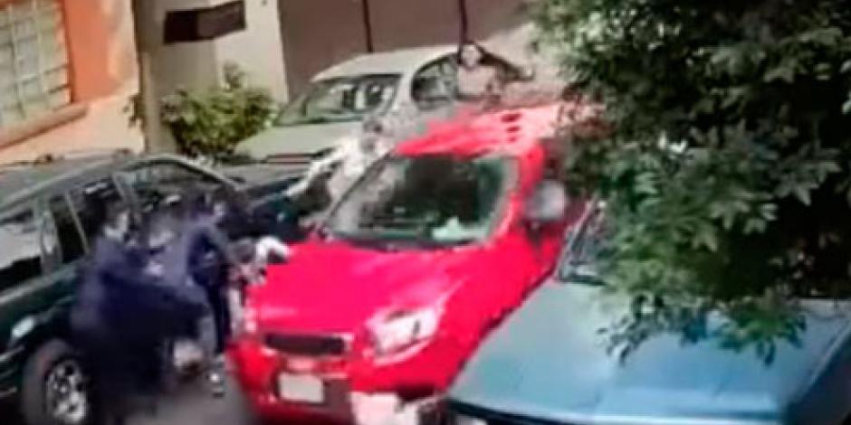 Cae hombre que atropelló a familia en Azcapotzalco
