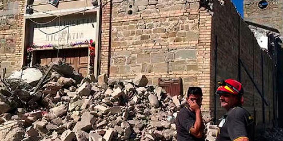 Nuevo temblor de 4.3 grados Richter sacude Italia