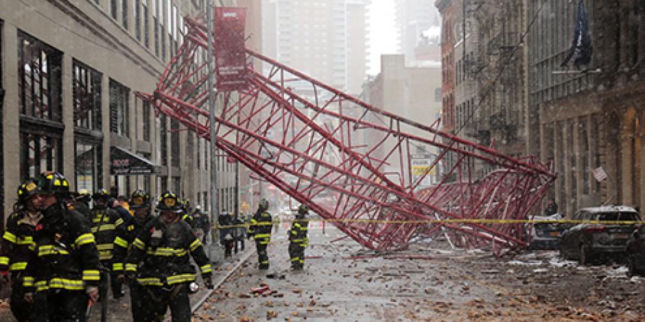 Cae grúa en Nueva York