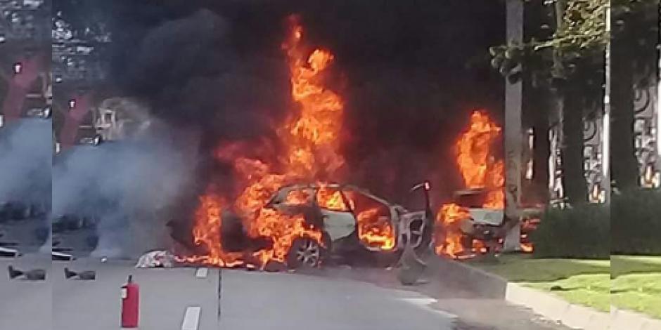 Arrastra pipa 10 autos en Lázaro Cárdenas, Veracruz; mueren 4 personas