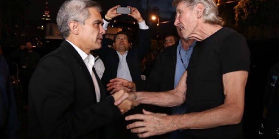Mancera y Roger Waters se dan la mano por concierto