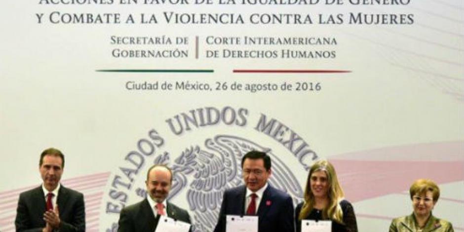 Cero tolerancia contra violencia hacia mujeres, señala Osorio Chong