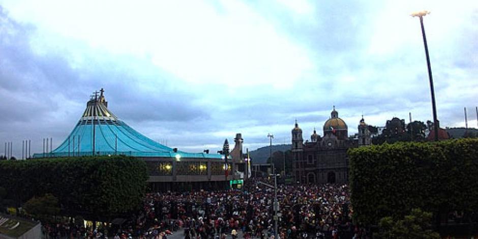 Arriban peregrinos de Michoacán a la Basílica de Guadalupe
