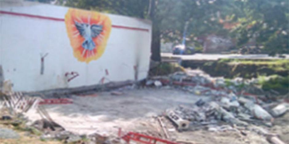 Sacerdote presenta denuncia por destrucción de capilla histórica
