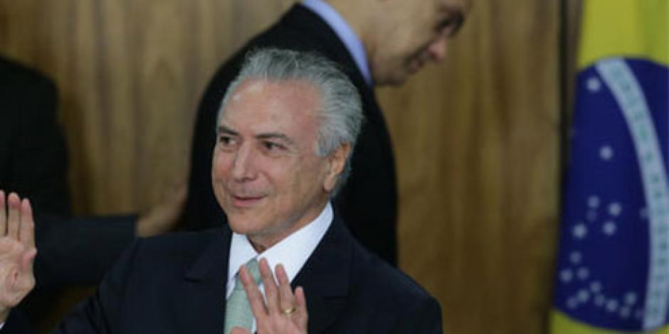Situación política no afecta a Olimpiadas, afirma presidente interino de Brasil