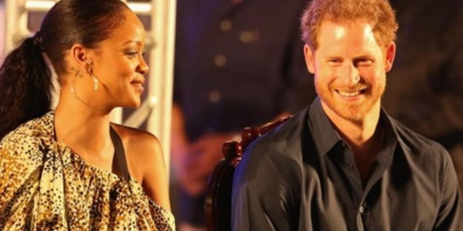 Rihanna conoce al príncipe Enrique de Inglaterra en Barbados