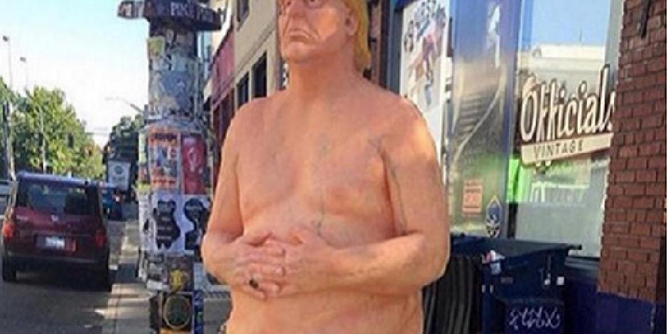 Venden estatua de Trump desnudo en 400 mil pesos