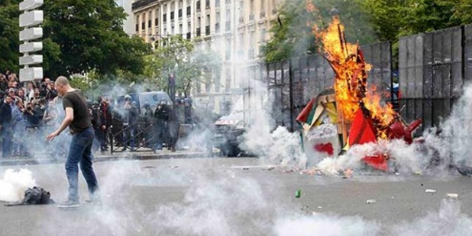 Francia reporta octava protesta con violencia y detenidos