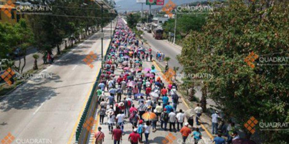 CETEG marcha sobre Autopista del Sol