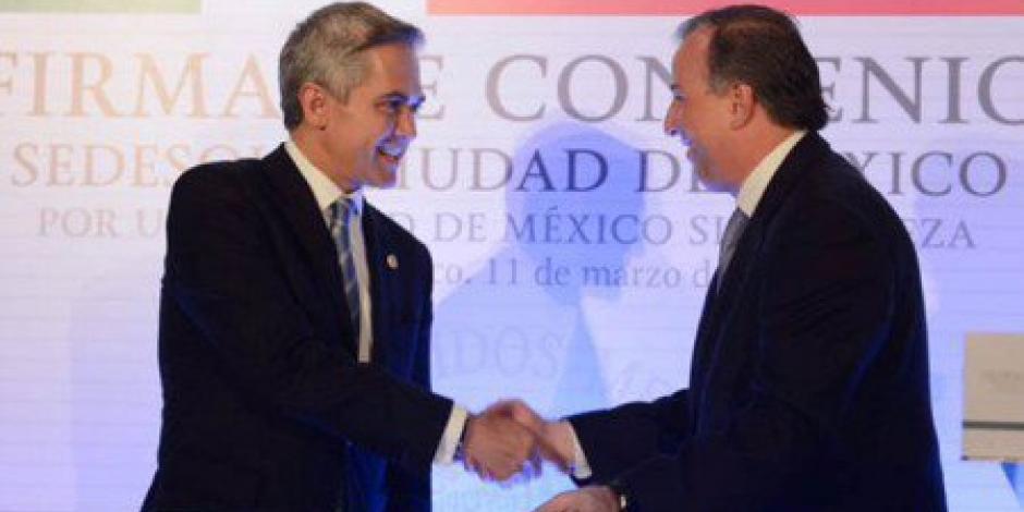 Firman Mancera y Meade acuerdo por una CDMX sin pobreza